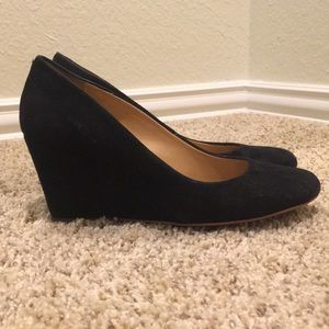 J Crew Martina Suede Wedge Pumps